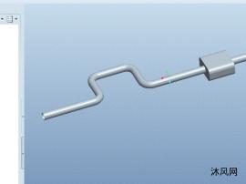 proe繪制簡易排氣管模型(可編輯修改學習使用)