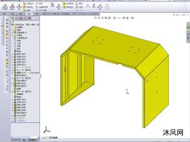 注塑机射胶防护罩钣金结构工艺设计