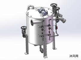 廢水處理罐三維模型