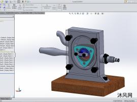 汪克尔转子发动机模型设计