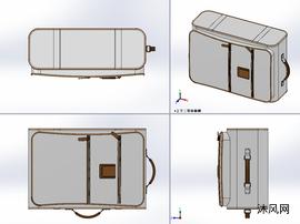 棕色皮箱模组