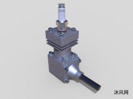 2冲程内燃机设计模型
