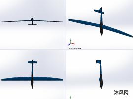 超长机翼滑翔飞机