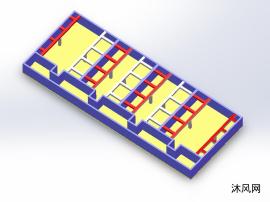 冷却塔基架模型