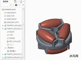 三角橡胶压轮模型