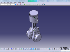 单缸内燃机曲柄连杆机构简化模型