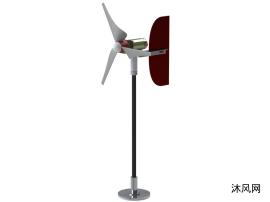风力发电机三维模型设计