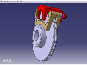 汽车盘式制动器三维模型