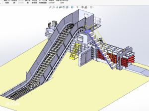 废纸皮全自动打包机3D图