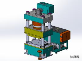 1000t四柱油压机三维模型