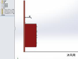 洗手间水盆柜子模型