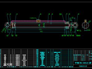 HSGL双作用单活塞杆液压缸装配及零件图