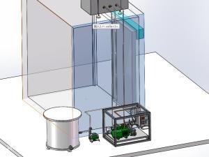 冷链工厂制冰机制冷器模型