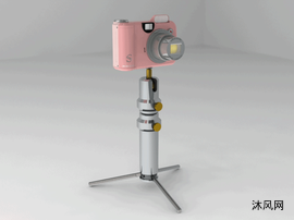 相机脚架设计模型图