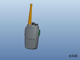 對講機結構3D