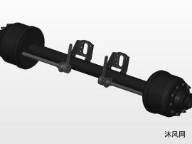 Axle 990020-2410008-01后轴及刹车总成