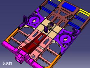 米国动车端底架一端模型