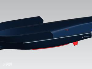 海上工作船船体模型