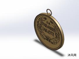 功勋奖章模型设计