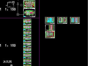 三层框架结构老年服务中心v框架(含CAD图、计cad长度无法三维标注垂直线图片