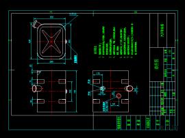 汽车柴油箱部件图及其托架零件图