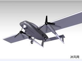 双翼无人飞机模型