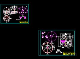 圆形开式冷却水塔基础及安装大样图