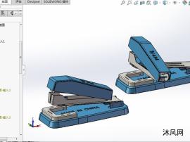 可转向订书机设计模型