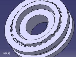 锁环式同步器三维模型