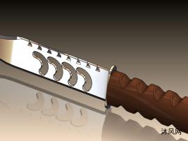 sw一把匕首模型建模