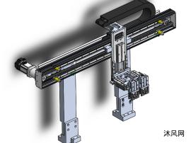 滑动模组单轴机器人三维图