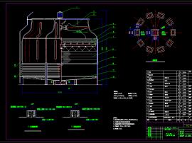 玻璃钢冷却塔CAD图纸