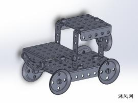 钣金拼图拖拉机模型