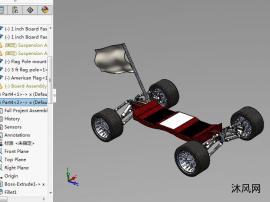 游行电动滑板车模型