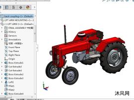 收割拖拉机车模型
