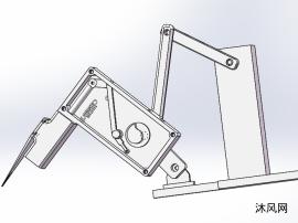 插秧机分插机构三维图