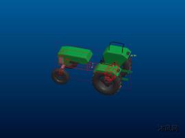 农用拖拉机三维模型