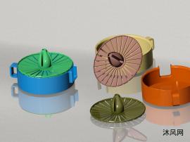 手動榨汁機制作模型