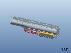 3轴半挂运油车