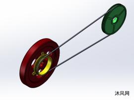 拖拉机传送带系统设计模型图