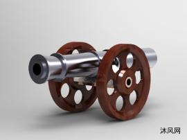木輪銅大炮模型