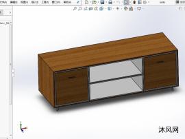 电视柜设计模型图