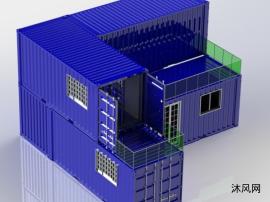 69米高的多层集装箱式房屋设计模型