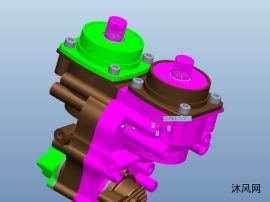 发动机齿轮组合模型图