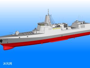 解放军055型驱逐舰原创模型