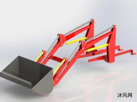 装载机铲斗模型