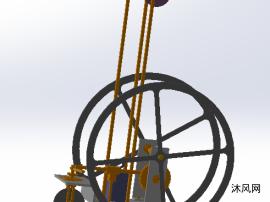 原创无碳小车UG模型