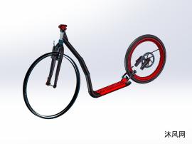 创新踏板车三维设计
