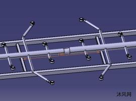 锅炉脱硫用喷淋管喷头设计CATIA图