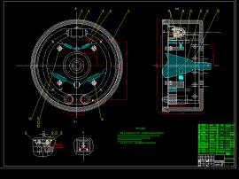 鼓式制动器CAD图纸